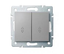 Kanlux LOGI 25192 Kettős váltókapcsoló 10AX - 250V~,ezüst