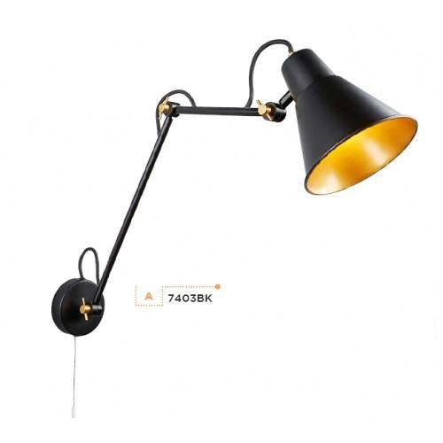 Searchlight 7403BK Wall, Fali lámpa