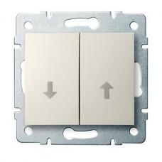 Kanlux 25137 Redőnykapcsoló 10AX - 250V~,krémszínű