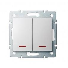Kanlux LOGI 25070 LED kettős nyomó 10AX - 250V~,fehér