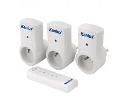 Kanlux 07980 APO  TM-3, Konnektorba dugható kapcsolós aljzat