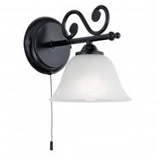 Eglo 91006 WL/1 SCHWARZ/ALABASTER 'MURCIA' Fali lámpa