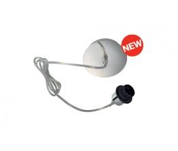 Schrack Technik LI155562  FENDA, E27, lámpa függesztő, lámpaernyő nélkül, króm