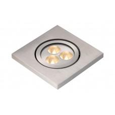 Lucide 10858/23/12 ELSON Spot Vierkant Inbouw 3x1W IP65 D10cm 4200K A