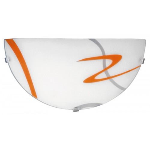Rábalux 1814 Soley,  fali lámpa, narancssárga mintával