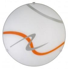 Rábalux 1815 Soley, fali lámpa, narancssárga mintával