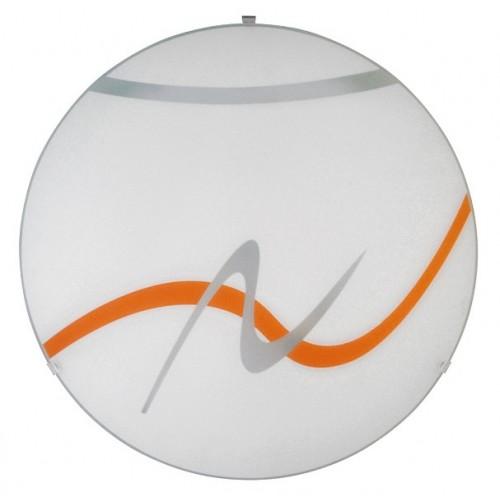 Rábalux 1816 Soley,  fali lámpa, narancssárga mintával